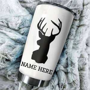 1pc Deer Hunting Custom name Stainless Steel Tumbler Cup - Personalized Hunting gifts - FSD50
