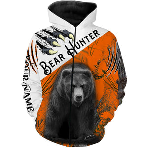 Black Bear hunting Custom Name 3D All over print shirts - personalized hunting gifts - FSD227