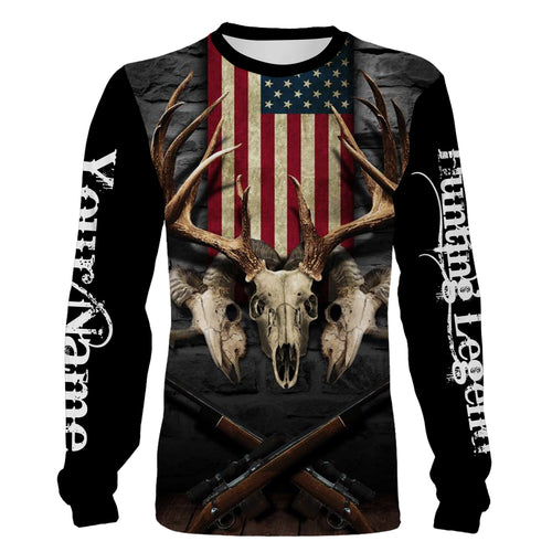 Hunting Legend American Flag Custom Name 3D All over print shirts - personalized hunting gifts - FSD234