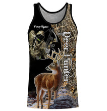 Load image into Gallery viewer, Grim reaper Deer Bow hunter Custom Name 3D All over print Shirts, Face shield - Personalized hunting gifts for Men, Women and Kid- FSD399