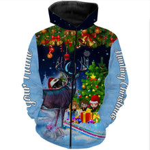 Load image into Gallery viewer, Deer hunting Christmas gifts for hunters Custom name 3D All over print Sweatshirt, T-shirt, Long sleeves, Hoodie - personalized hunting gifts for men, women and kid - FSD582