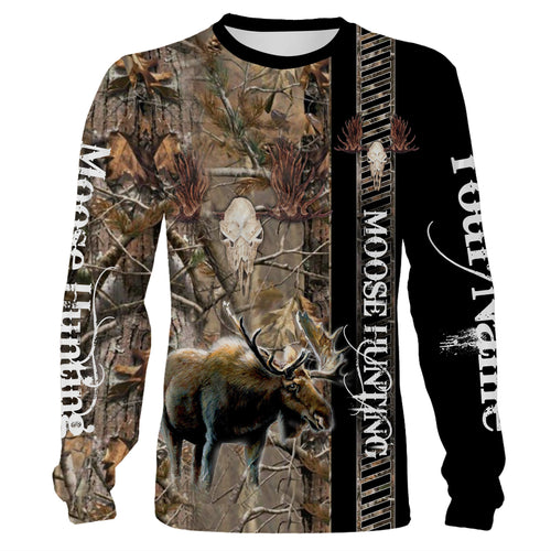 Moose hunting camouflage custom Name 3D All over print Shirts, Face shield - Personalized hunting gifts - FSD410