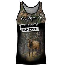 Load image into Gallery viewer, Deer Elk Big-game hunter custom Name 3D All over print Sweatshirt, T-shirt, Long sleeves, Hoodie - Personalized hunting gifts for Men, Women and Kid - FSD596