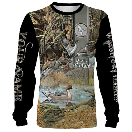 Duck hunting Custom Name 3D All over print Shirts - Personalized Duck hunting gift - FSD123