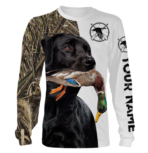 Duck hunting with Black lab custom Name 3D All over print shirt, hoodie, long sleeves Hunting gifts for Men, Women and Kid FSD437