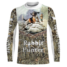 Load image into Gallery viewer, Rabbit hunting Custom Name 3D All over print Shirts, Face shield - personalized hunting gifts - FSD281