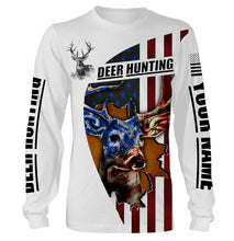 Load image into Gallery viewer, American Deer hunting custom name 3D printing Sweatshirt, Long sleeves, Hoodie, Zip up hoodie - Personalized hunting gift for Men, Women and Kid - FSD636