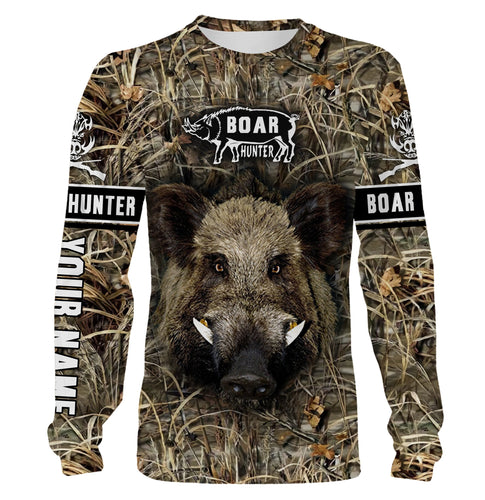 Boar hunting custom Name 3D All over print T-shirt, Hoodie, Sweatshirt, Long sleeves - FSD456