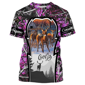 Country girl Custom Name 3D All over print Shirts, Face shield - personalized hunting gifts - FSD300