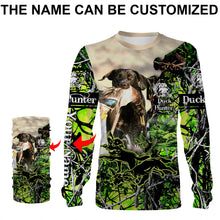 Load image into Gallery viewer, Duck hunting Dog Custom Name 3D All over print Shirts, Face shield - personalized hunting gifts - FSD310