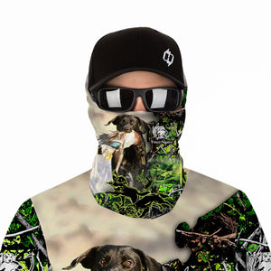 Duck hunting Dog Custom Name 3D All over print Shirts, Face shield - personalized hunting gifts - FSD310