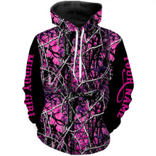 Load image into Gallery viewer, Muddy girl camo custom Name 3D All over print Hoodies, Sweatshirt, T-shirt, Face shield - Personalized gifts for Women- FSD480