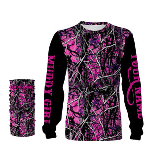 Muddy girl camo custom Name 3D All over print Hoodies, Sweatshirt, T-shirt, Face shield - Personalized gifts for Women- FSD480