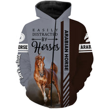 Load image into Gallery viewer, Arabian horse custom Name 3D All over print Hoodies, Sweatshirt, Long sleeves, T-shirt - Personalized gift ideas for horse lovers - FSD490