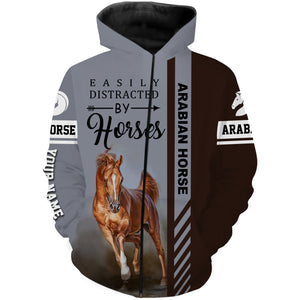 Arabian horse custom Name 3D All over print Hoodies, Sweatshirt, Long sleeves, T-shirt - Personalized gift ideas for horse lovers - FSD490