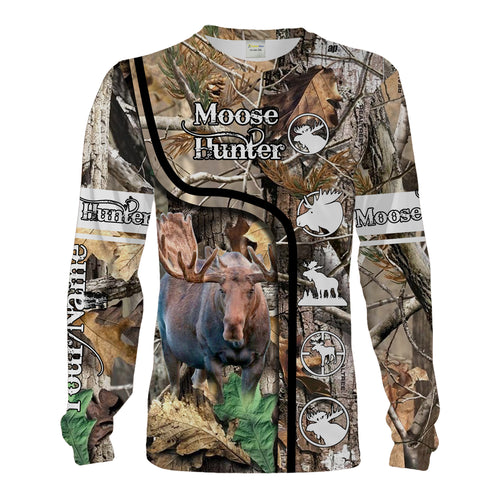 Moose Hunting Camo Custom Name 3D All Over Print Shirts For Men, Women Personalized Hunting Gifts Chipteeamz FSD1829