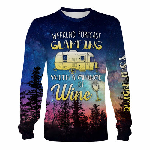 Glamping Customized Camping Tees full printing, Funny Travel Trailer Wine Lover Camping Gift Chipteeamz - TNN115D03