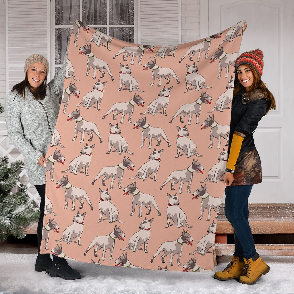 Bull Terrier Fleece Blanket - IPH415