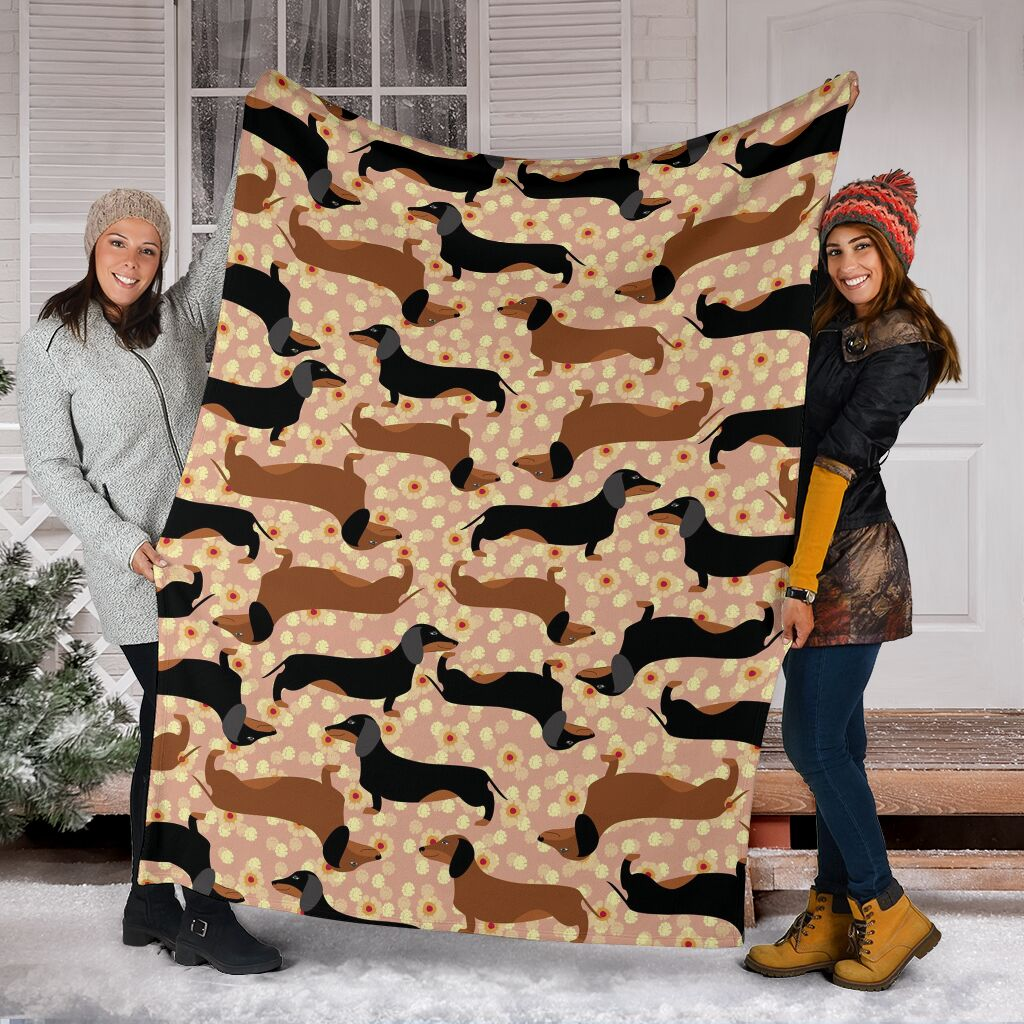 Dachshund dog Fleece Blanket - IPH417