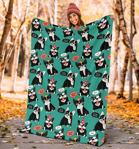 French Bulldog Fleece Blanket - IPH420