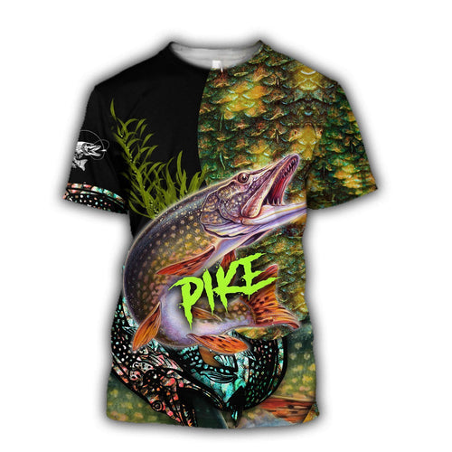 Northern Pike Fishing scale All over print shirts design for men and women - IPH902