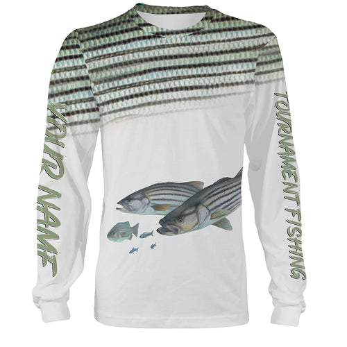 Striped Bass Tournament fishing Striper Customize name All over print shirts personalized gift for fishing lovers  - IPH912