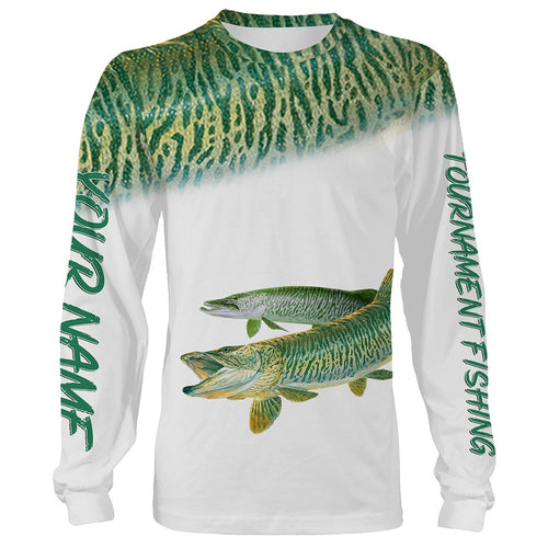 Musky Tournament fishing Customize name All over print shirts personalized fishing gift  - IPH919