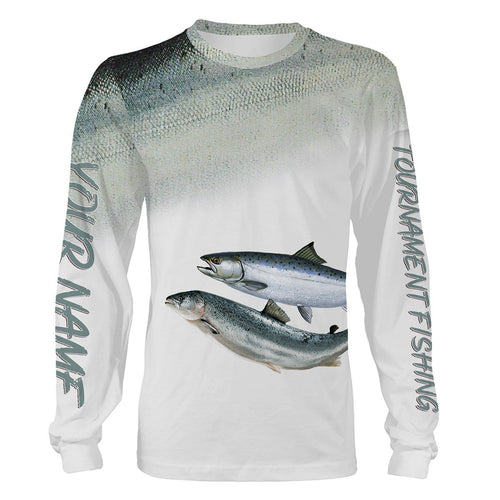 Chinook Salmon Tournament fishing Customize name All over print shirts personalized fishing gift  - IPH924