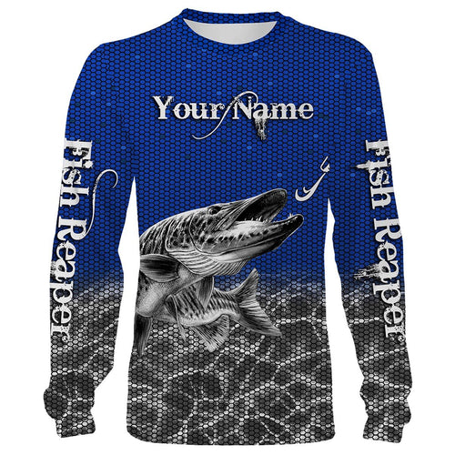 Musky fishing Fish Reaper Customize name All over print shirts Personalized Fishing gift for men and women - IPH966