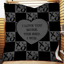 Load image into Gallery viewer, I love you more Fleece Blanket