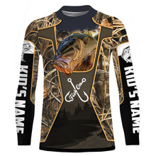 Load image into Gallery viewer, Personalized Fish on bass fishing 3D full printing Long sleeve, Hoodie, Zip up hoodie - PQB21