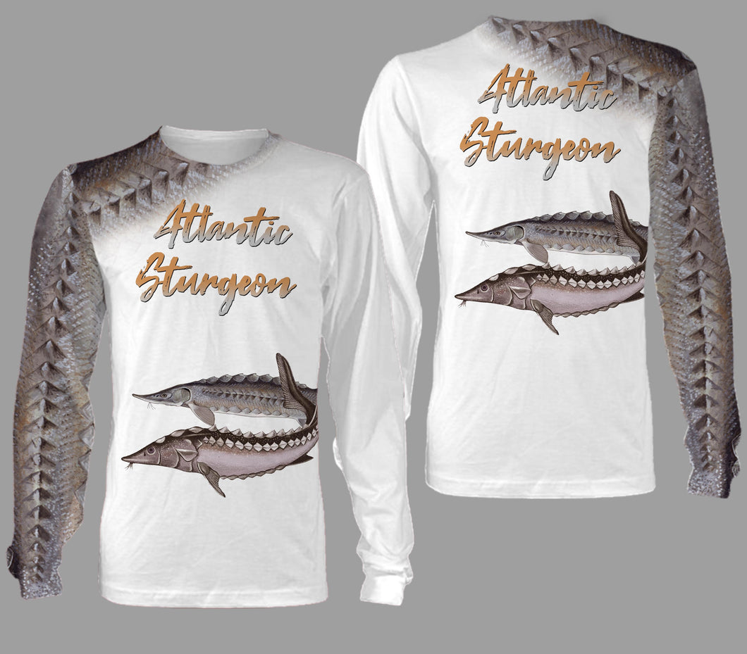 Atlantic sturgeon fishing full printing