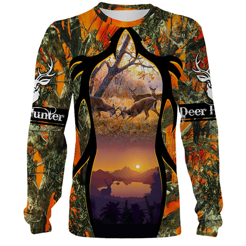 Deer Hunting clothes horn loop orange 3D all over print shirt, hoodie, coat zip up, tank top plus size NQS94 PQB