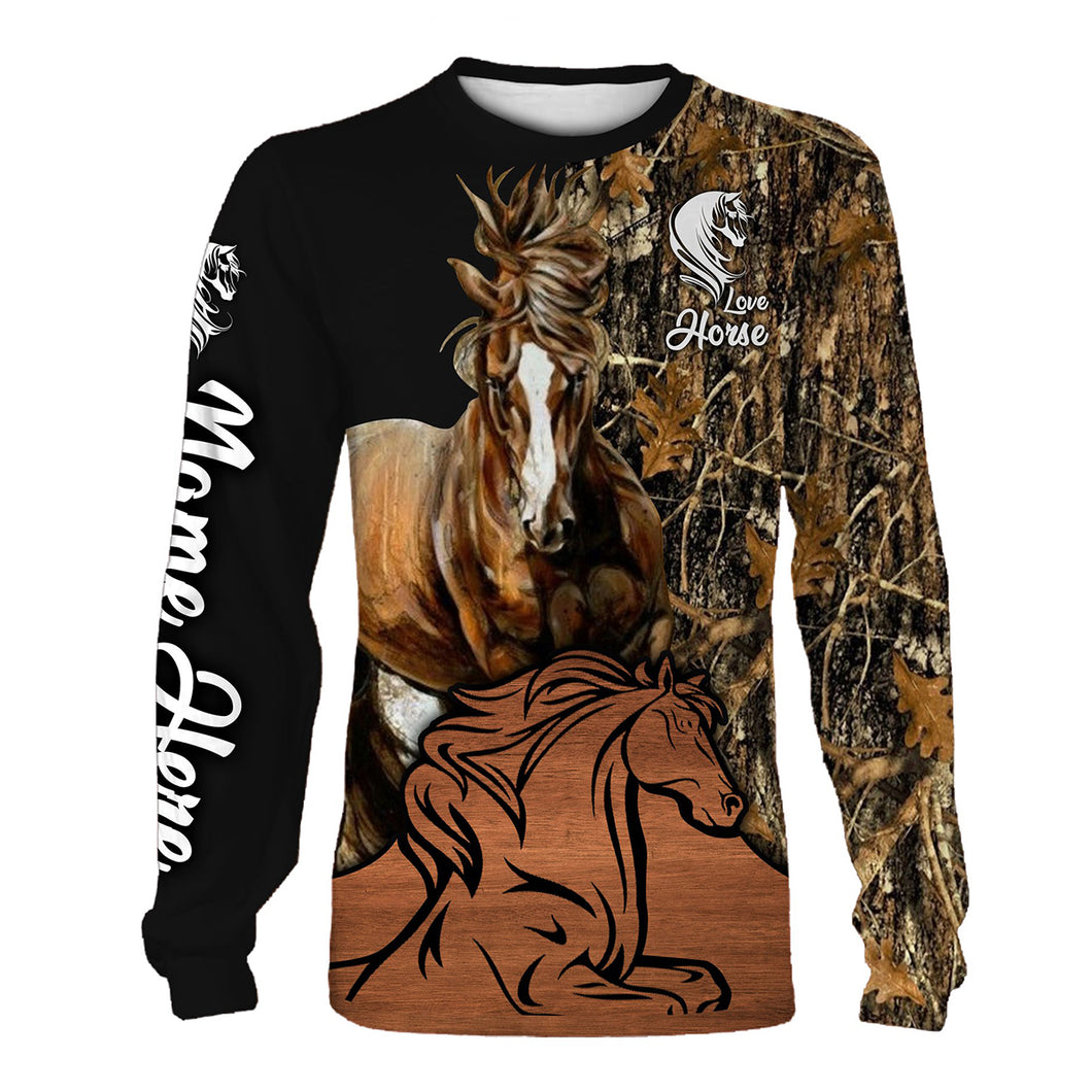 Personalized love horse full printing shirt, all over print long sleeves, hoodie, zip up hoodie