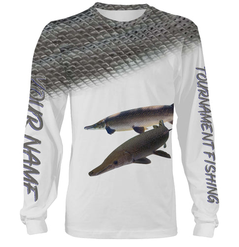 Alligator Gar tournament fishing customize name all over print shirts personalized gift NQS179