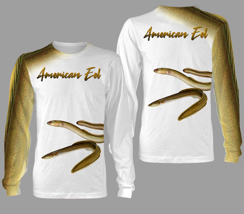 American eel fishing full printing