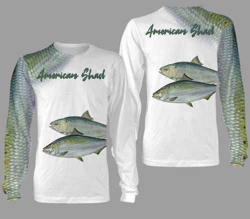 American shad fishing full printing