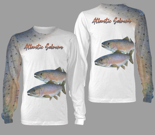 Atlantic salmon fishing full printing