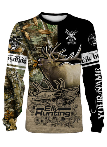 Best elk hunting full printing shirt and hoodie - TATS3