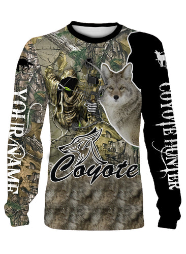 Coyote camo hunter full printing shirt and hoodie - TATS19