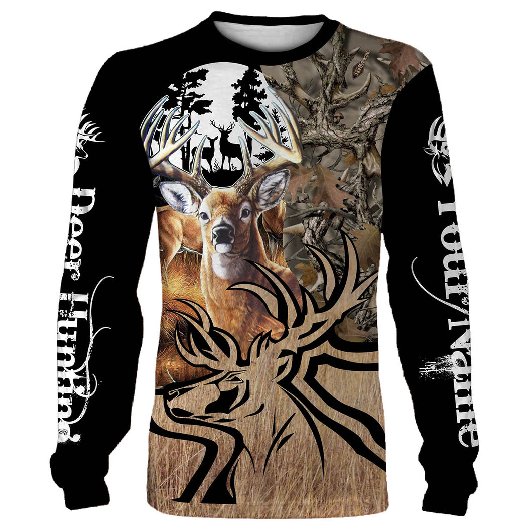 Personalized deer hunting full printing shirt, all over print long sleeves, hoodie, zip up hoodie