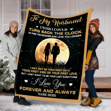Load image into Gallery viewer, Custom Name Blanket To My Husband Ultra Soft Cozy Personalized Throw Fleece Love Blanket, Gift For Father's Day - NQAZ24