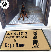 Load image into Gallery viewer, Personalized Dog Name Doberman Pinscher Doormat