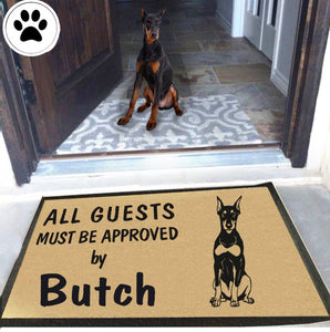 Personalized Dog Name Doberman Pinscher Doormat