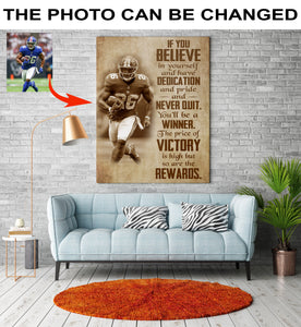 Personalized football canvas – believe in yourself