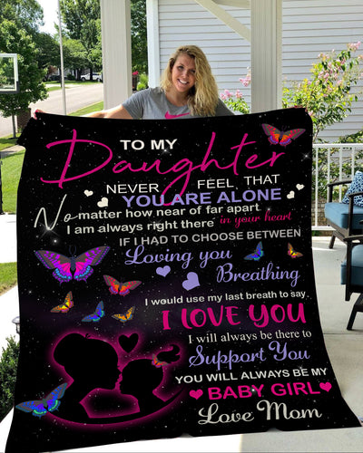 To my daughter fleece blanket gift from love mom