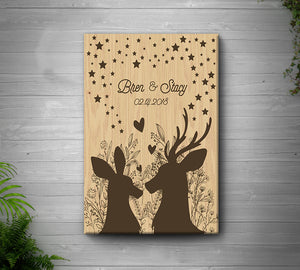 Personalized deer matte canvas