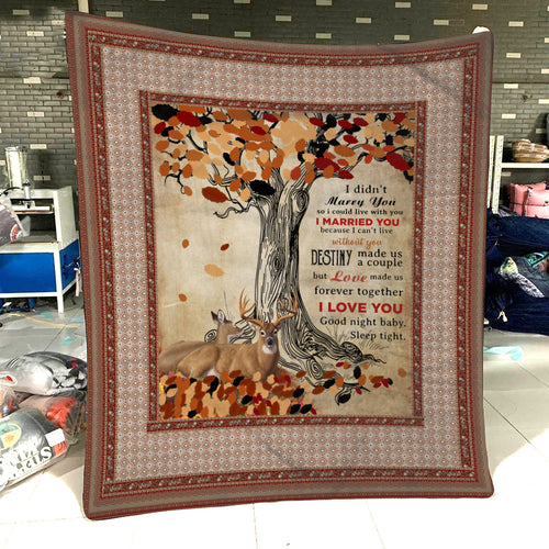Beautiful Deer Couple Blanket, Gift For Deer Hunter, Valentine Gift for your lover - NQS127
