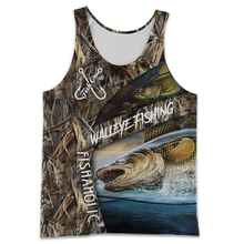 Load image into Gallery viewer, WALLEYE FISHING 3D ALL OVER PRINTED SHIRTS - FISHAHOLIC NQS103 PQB