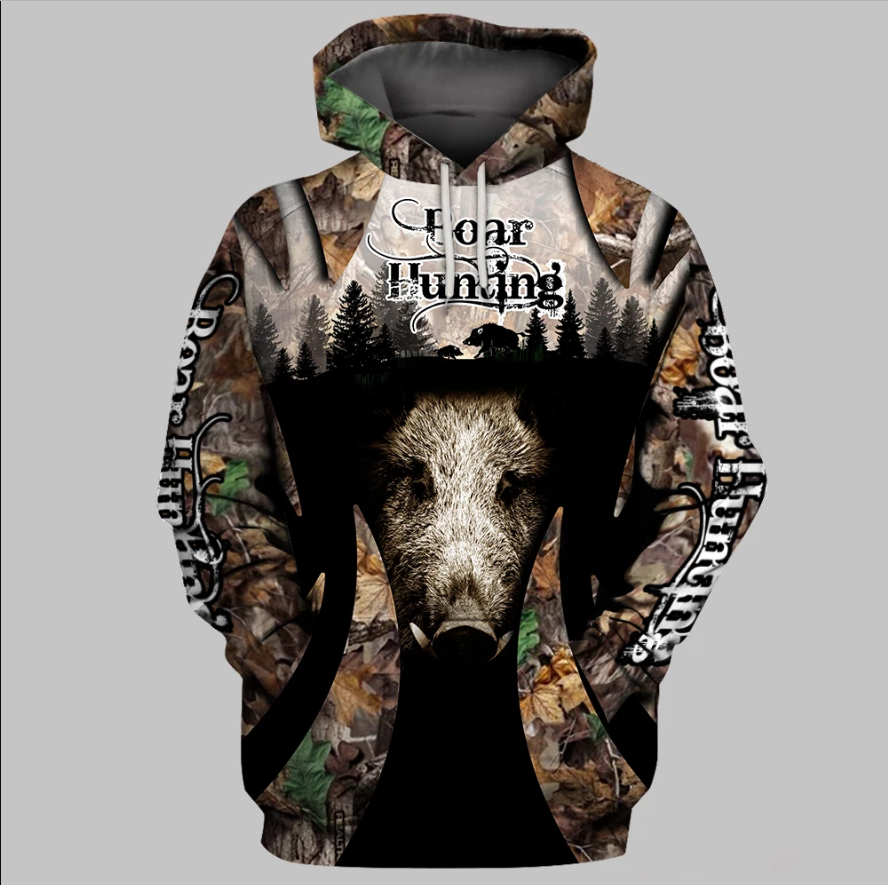 Wild Hog Hunting Clothes 3D all over Print Hoodie plus size - NQS83